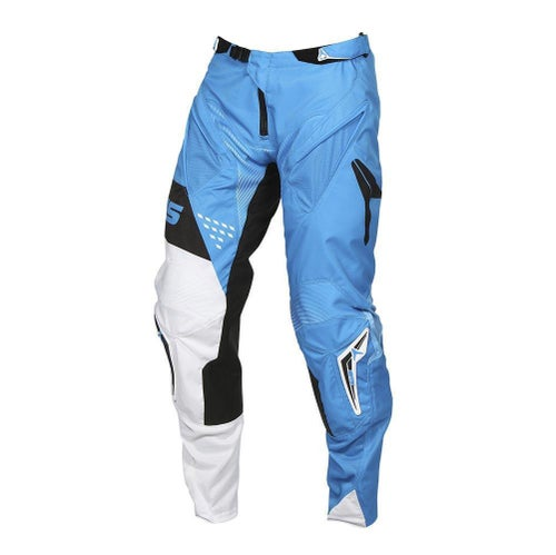Alias Alias A1 Standard Pants Neon Blue White Motocross Pants - Neon Blue