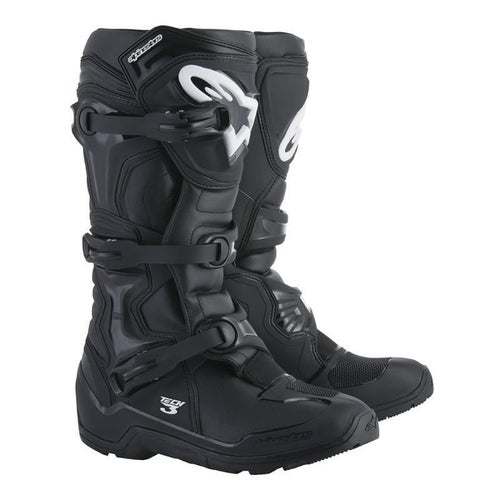 Alpinestars Tech 3 Enduro Grippy Sole Motocross Boots - Black