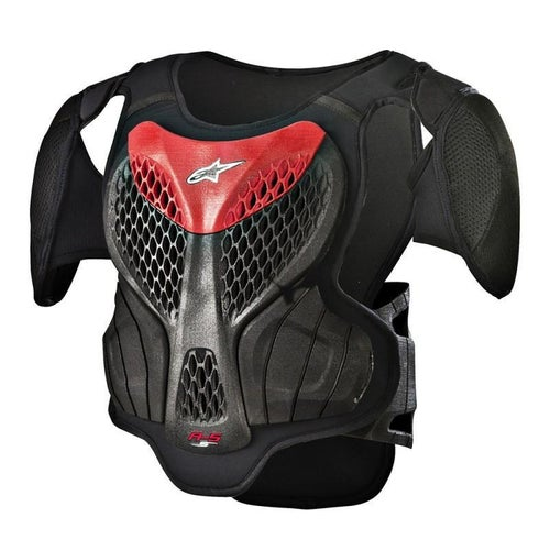 Alpinestars YOUTH A5S Body Armour Boys Body Protection - Black Red