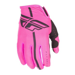 Fly Lite YOUTH Motocross Gloves - Pink Black