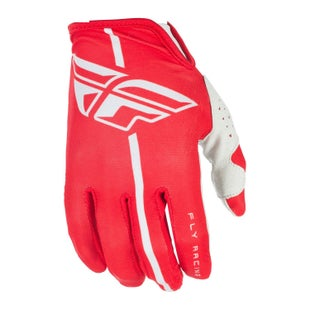 Fly Lite YOUTH Motocross Gloves - Red Grey