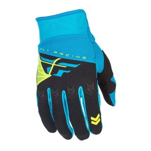 Fly F16 MX Motocross Gloves - Blue Black