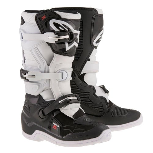 Alpinestars Tech 7S YOUTH Motocross Boots - Black White