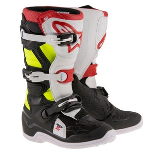 Alpinestars Kids Boots Tech 7S Youth Motocross Boots - Black Red Fluo Yellow