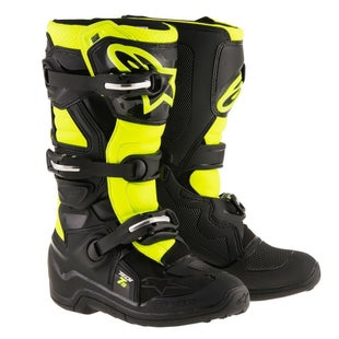 Alpinestars Kids Boots Tech 7S Youth Motocross Boots - Black Flou Yellow