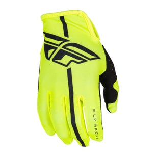 Fly Lite MX Black Hi Motocross Gloves - Vis