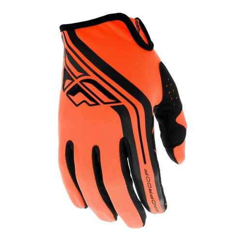 Fly Windproof Lite MX Motocross Gloves - Orange Black