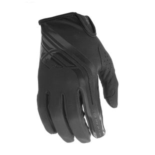 Fly Windproof Lite MX Motocross Gloves - Black Grey