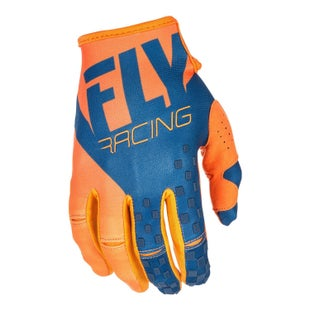 Fly Kinetic MX Motocross Gloves - Orange Navy