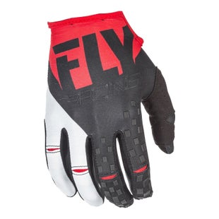 Fly Kinetic MX Motocross Gloves - Red Black
