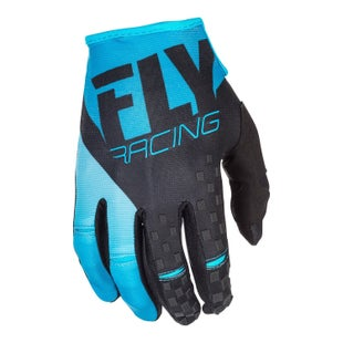 Fly Kinetic MX Motocross Gloves - Blue Black