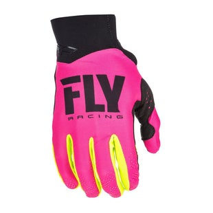 Fly Pro Lite MX Motocross Gloves - Pink