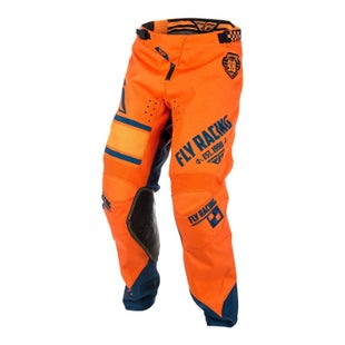 Fly Kinetic Era YOUTH MX Motocross Pants Boys Motocross Pants - Orange Navy