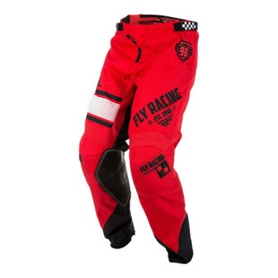 Fly Kinetic Era YOUTH MX Motocross Pants Motocross Pants - Red Black