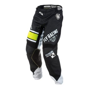 Fly Kinetic Era MX Motocross Pants - Black White