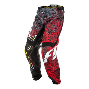 Fly Kinetic Rockstar MX Motocross Pants - Black White Red
