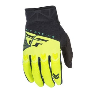 Fly F16 YOUTH MX Boys Motocross Gloves - Black Hi Viz