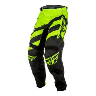 Fly F16 YOUTH MX Motocross Pants Black Hi Boys Motocross Pants - Viz