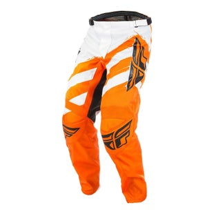 Fly F16 YOUTH Motocross Pants - Orange White