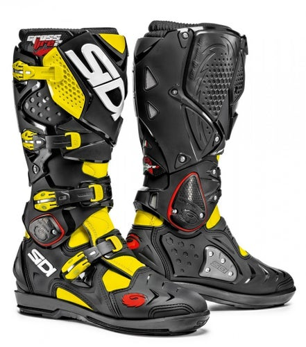 Sidi Crossfire 2 SRS Motocross Boots - Black Flou Yellow