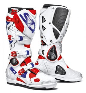 Sidi Crossfire 2 SRS Motocross Boots - White Red Blue