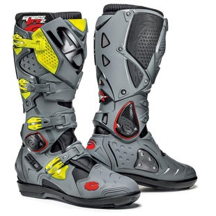 Buty MX Sidi Crossfire 2 SRS - Fluo Yellow Grey