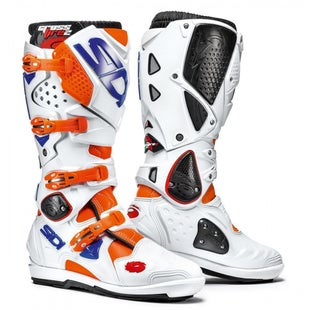 Sidi Crossfire 2 SRS Motocross Boots - Orange Flou White