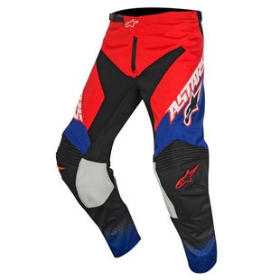 Alpinestars Racer Supermatic YOUTH MX Motocross Pants - Red Blue White