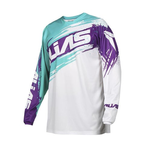 Alias Alias A2 Brushed YOUTH Jersey White Aqua Boys Motocross Jerseys - White Aqua