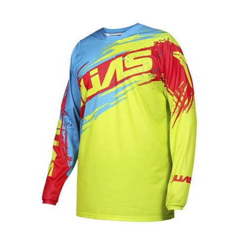 Jerseys MX Alias Alias A2 Brushed Jersey Chartreuse Blue - Chartreuse Blue