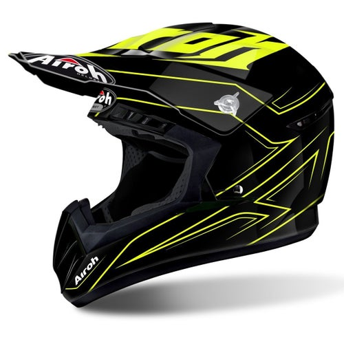Airoh Switch Motocross Helmet - Spacer Yellow Gloss