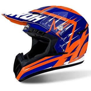 Airoh Switch Motocross Helmet - Startruck Blue Gloss
