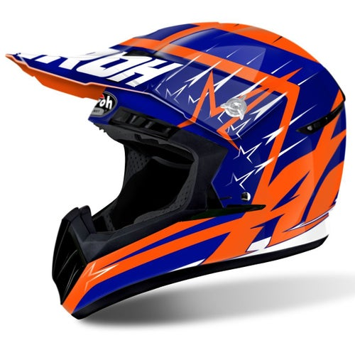 Airoh Switch MX Helm - Startruck Blue Gloss