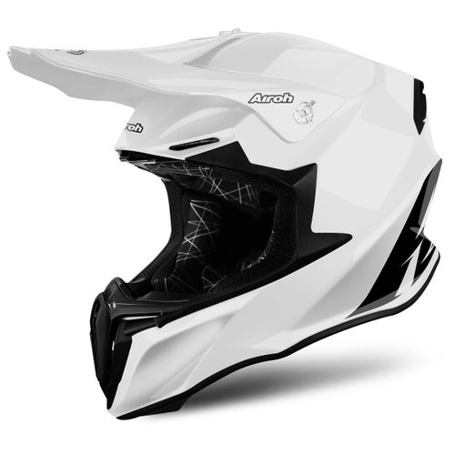 Kask MX Airoh Twist - Gloss White