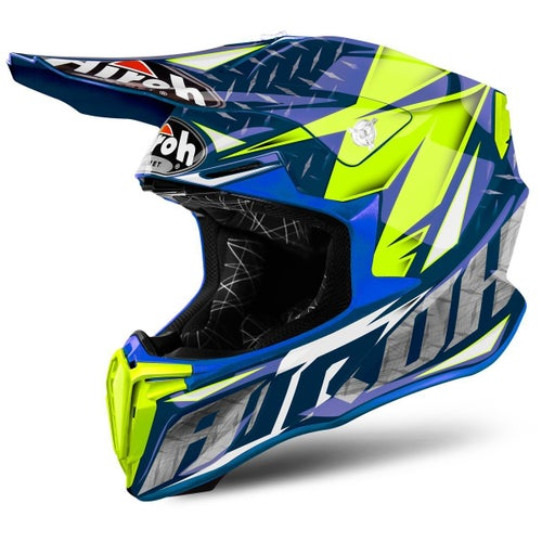 Airoh Twist Motocross Helmet - Iron Blue