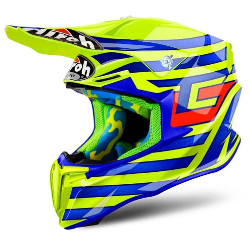 Airoh Twist MX Helm - Tony Cairoli Qatar Yellow