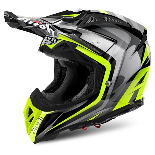 Airoh Aviator 2.2 Motocross Helmet - Warning Yellow