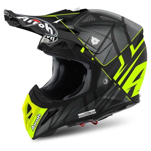 Kask MX Airoh Aviator 2.2 - Styling Yellow Matt