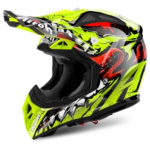 Airoh Aviator 2.2 Motocross Helmet - Grim Yellow