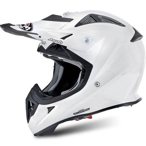 Kask MX Airoh AviatorYOUTH - Gloss White
