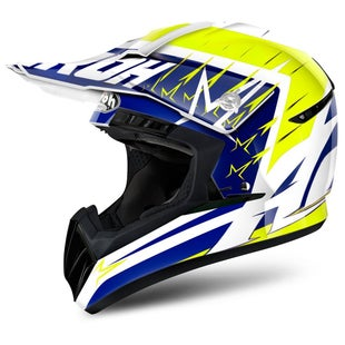 Airoh Switch Motocross Helmet - Startruck Yellow Gloss