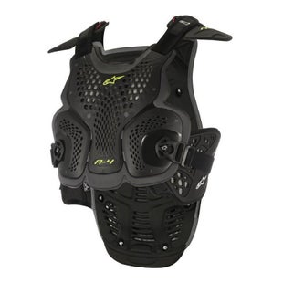 Alpinestars A4 MX Motocross Chest Protector Torso Protection - Black and Anthracite