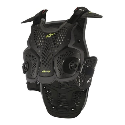 Alpinestars A4 MX Motocross Chest Protector Body Protection - Black and Anthracite