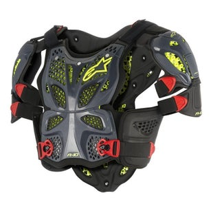 Alpinestars A10 MX Motocross Full Chest Protector Torso Protection - Anthracite, Black and Red