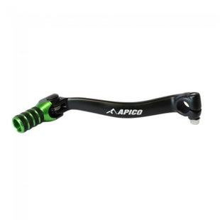 Apico Gear Pedal Elite Kawasaki KX450F 09 Gear Lever - 15 Black Green