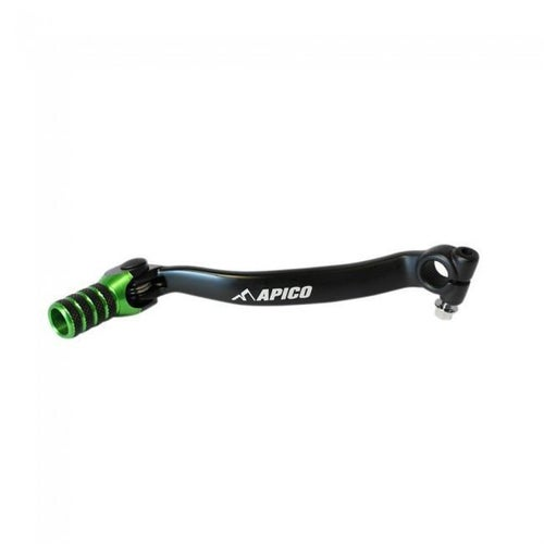 Apico Gear Pedal Elite Kawasaki KX250F 09 Gear Lever - 17 Black Green