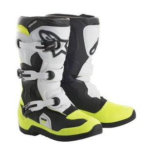 Alpinestars Tech 3S Motocross Boots Boys Motocross Boots - Black White Yellow