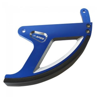 Apico Rear Brake Disc Guard Yamaha YZ125250 9817 YZ250F 0117 YZ45 Brake Disc Guard - Blue