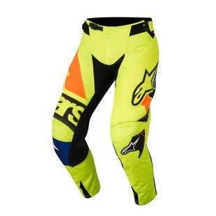Calzones de MX Alpinestars Techstar Factory MX - Yellow Fluo, Blue, Black and Orange Fluo