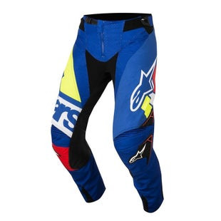 Calzones de MX Alpinestars Techstar Factory MX - Blue, Red, White and Yellow Fluo